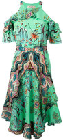Etro multiple print cut-out dress