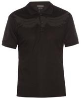 Alexander Mcqueen Wings-appliqué Cotton-piqué Polo Shirt