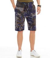 True Religion Ringed Tie Dye Pull-On Sweat Shorts