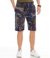 True Religion Ringed Tie Dye Pull-On Sweat Shorts