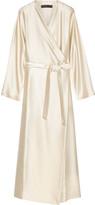 The Row Laki satin-twill wrap dress