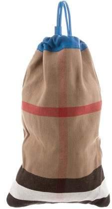 Burberry Check Drawstring Sling Backpack
