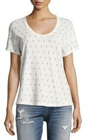 Current/Elliott The Slouchy Scoop Cactus Tee, White