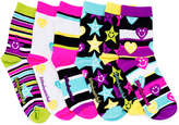 LittleMissMatched Pink & Black Stars & Hearts Socks Set