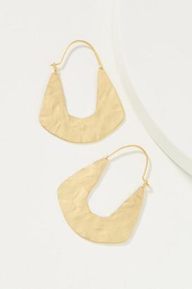 Anthropologie Miguela Hoop Earrings By in Gold
