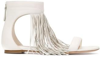Alexander McQueen Fringed Flat Sandals