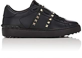 Valentino Garavani Women's Open Rockstud Leather Sneakers - Black