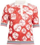 Stella Jean Geometric-intarsia short-sleeved sweater