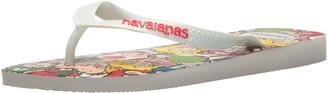 Havaianas Men's Mario Bros Flip Flop Sandal White 11/12 M US