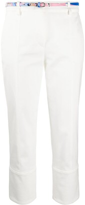 Emilio Pucci Belted Cropped Trousers