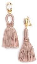 Oscar de la Renta Women's Silk Tassel Drop Earrings