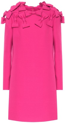 Valentino Bow-embellished wool and silk dress