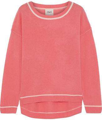 Charli Striped Cashmere Sweater