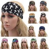 ILOVEDIY Anchor Cross Headband Bandana Wide Headbands for Women Men Fitness Sports Yogo