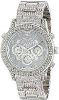 Akribos XXIV Women's AK776SS Crystal Encrusted Swiss Quartz Movement Watch with Silver Dial and Bracelet