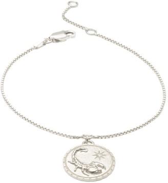 Rachel Jackson London Zodiac Art Coin Scorpio Bracelet Silver