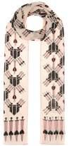 Valentino Love Blade silk crêpe scarf