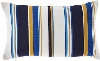 Elaine Smith Harbor Stripe Indoor/Outdoor Lumbar Pillow