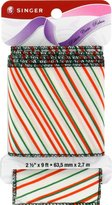 Singer Wired Edge Fabric Ribbon, 2-1/2-Inch by 9-Feet