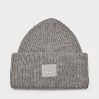 Acne Studios Pansy N Face Beanie In Mix Grey Wool