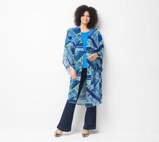 Hunter All Worthy McGrady Printed Open Front Duster Kimono