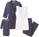 Everly Grey Cindy 4-pc. Nursing PJ Set with Gift Bag - XL