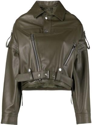 Manokhi Oversized Biker Jacket
