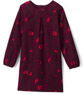 Classic Toddler Girls Pattern Aline Cord Dress-Midnight Navy Print