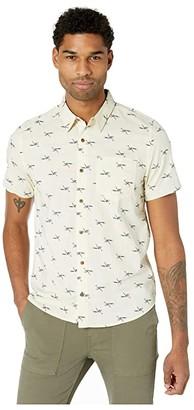 Toad&Co Fletch Short Sleeve Shirt (Oatmeal Road Runner Print) Men's Clothing