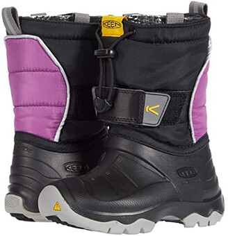 KEEN Kids Lumi Boot II WP (Toddler/Little Kid) (Black/Wood Violet) Kid's Shoes