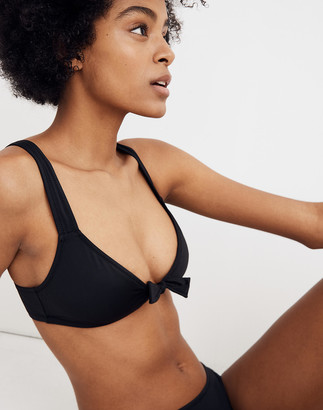 Madewell Second Wave Tie-Front Bikini Top