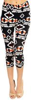 Black & White Geometric Capri Leggings
