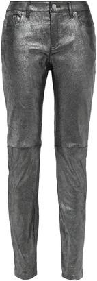 MICHAEL Michael Kors Coated Leather Skinny Pants