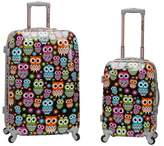 Rockland 2pc Polycarbonate/ABS Upright Luggage Set - Owl