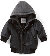 Starting Out Baby Boys 3-24 Months Hooded Bomber Jacket