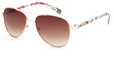 Full Tilt Floral Temple Girls Aviator Sunglasses