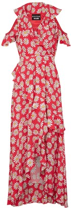 Boutique Moschino Red daisy-print maxi dress