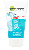 Garnier Skin Naturals Pure Active 3 in 1 Wash/Scrub/Mask 150ml