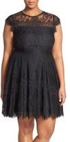 BB Dakota 'Rhianna' Lace Fit & Flare Dress (Plus Size)