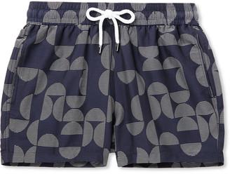 Frescobol Carioca Short-Length Printed Swim Shorts