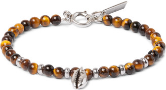 Isabel Marant Silver-tone Beaded Bracelet - Brown
