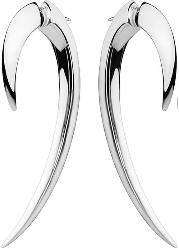 Shaun Leane Sterling silver hook earrings size 1, silver