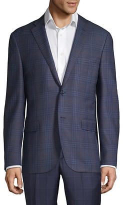 Corneliani Plaid Wool Sportcoat