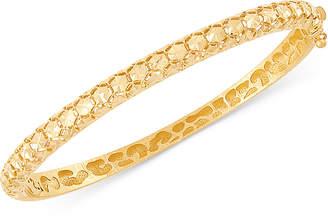 Effy Oro by Bead-Pattern Bangle Bracelet in 14k Gold