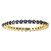 1 CT TW Blue Sapphire Eternity Band in 14K Gold by Moda Di Oro