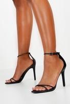 boohoo Cross Strap Stiletto 2 Part Heels