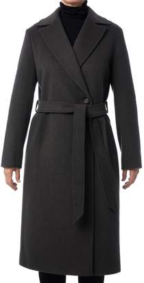 Cinzia Rocca Belted Wool Maxi Coat