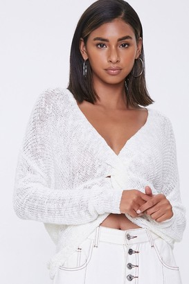 Forever 21 Twisted Plunge-Back Sweater