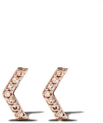 Astley Clarke 14kt rose gold Varro Honeycomb diamond stud earrings