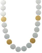 Gurhan Silver & Gold Flake Necklace